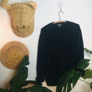 vtg 90s Eddie Bauer Black Oversized Sweater